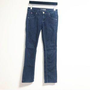 Hudson. Classic blue jeans.